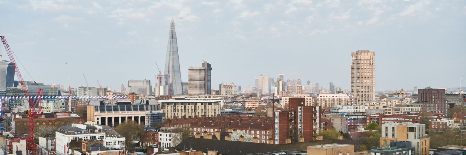 View of London and the Shard from DLD College London