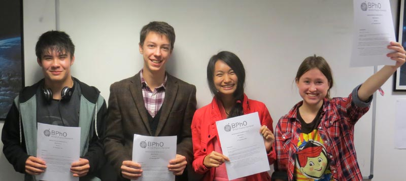 DLD A Level British Physics Olympiad Challenge Team