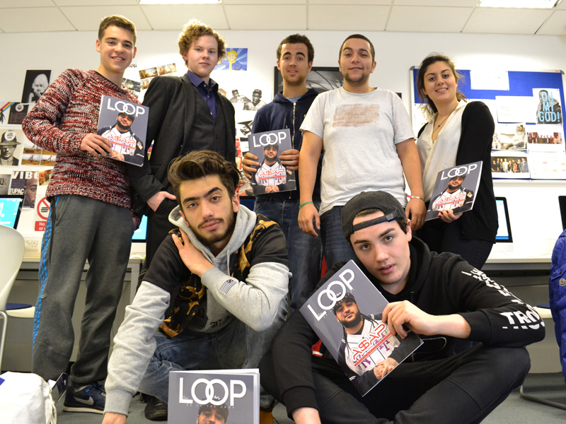DLD College London BTEC Media Students produce Loop Magazine