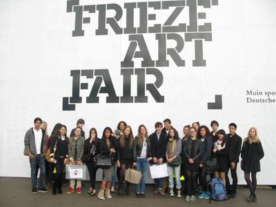 A level Art Students visit Frieze London