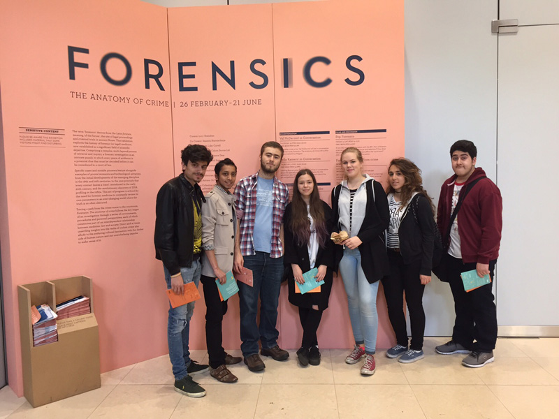 DLD College London A Level Biology trip to the Forensics of Crime Exhibit