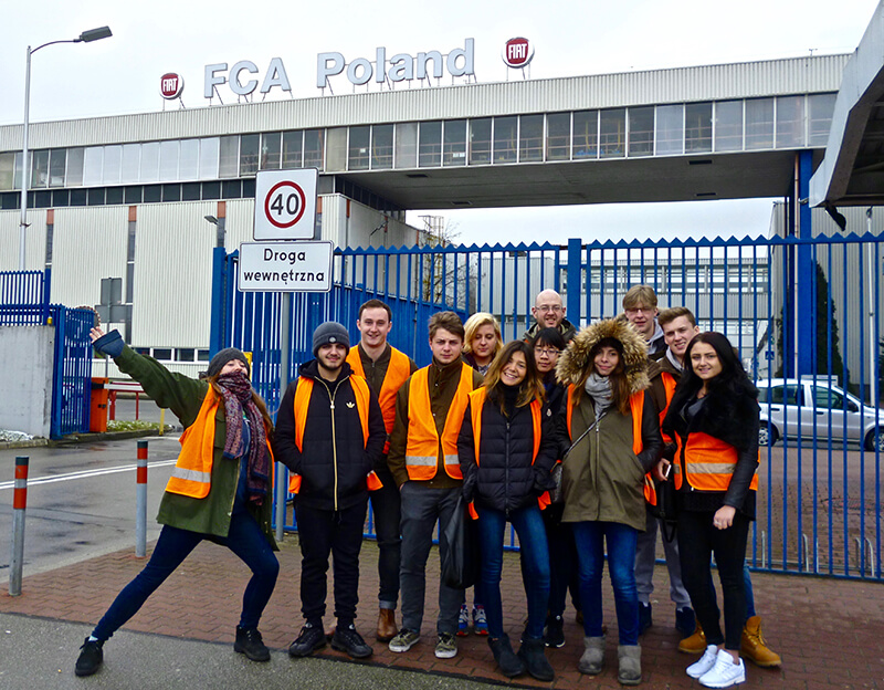 DLD College London Business Students Visit Poland