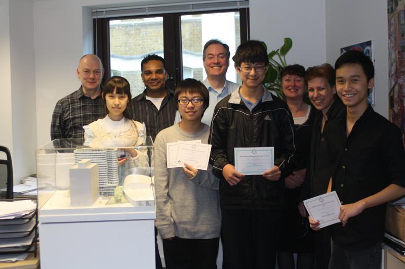 A level students at the UK Senior Maths Challenge