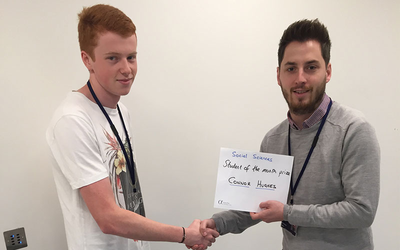 DLD College London BTEC Student Connor