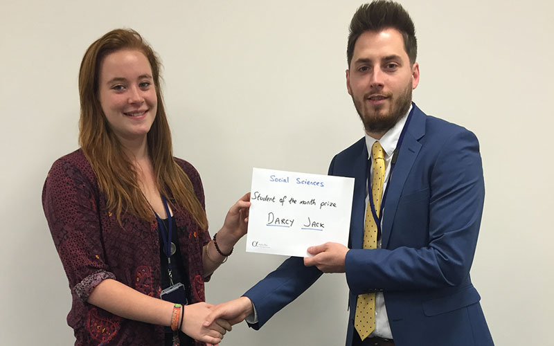 DLD A Level student of the month Darcy