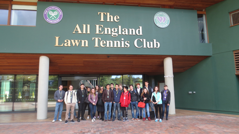 Business Studies students from DLD College London visited the All England Tennis Club in Wimbledon