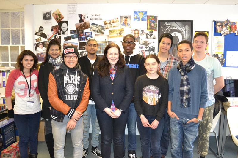 Empire Magazine visit DLD BTEC Media students