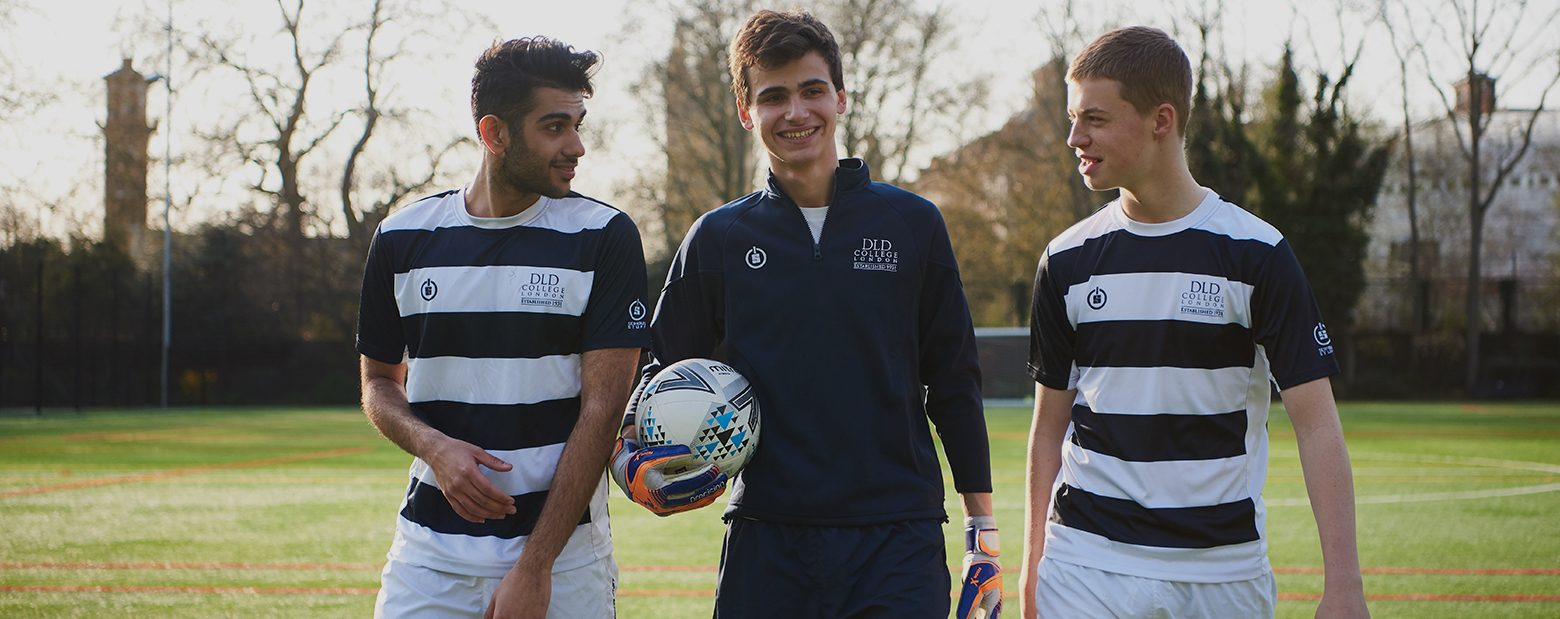 DLD College London boys Football players