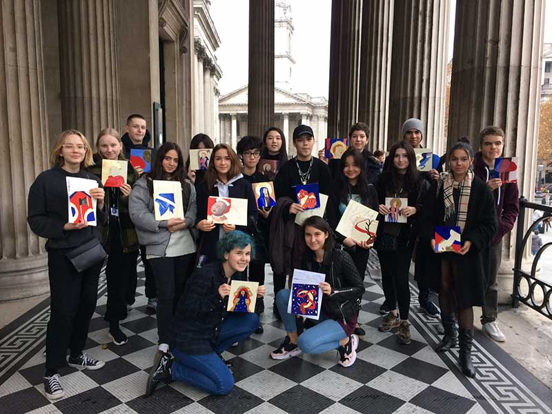 DLD College London A-Level Art Students Visit National Gallery