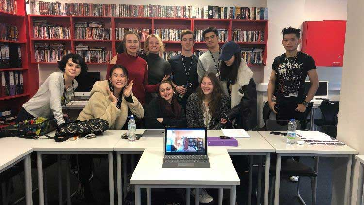 DLD College London A Level Film Studies Students in NYU Lecture
