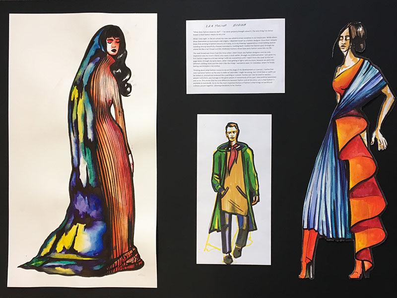 DLD College London visits London Fashion Week