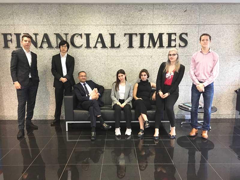 DLD College London Alpha Scholars Visit Financial Times