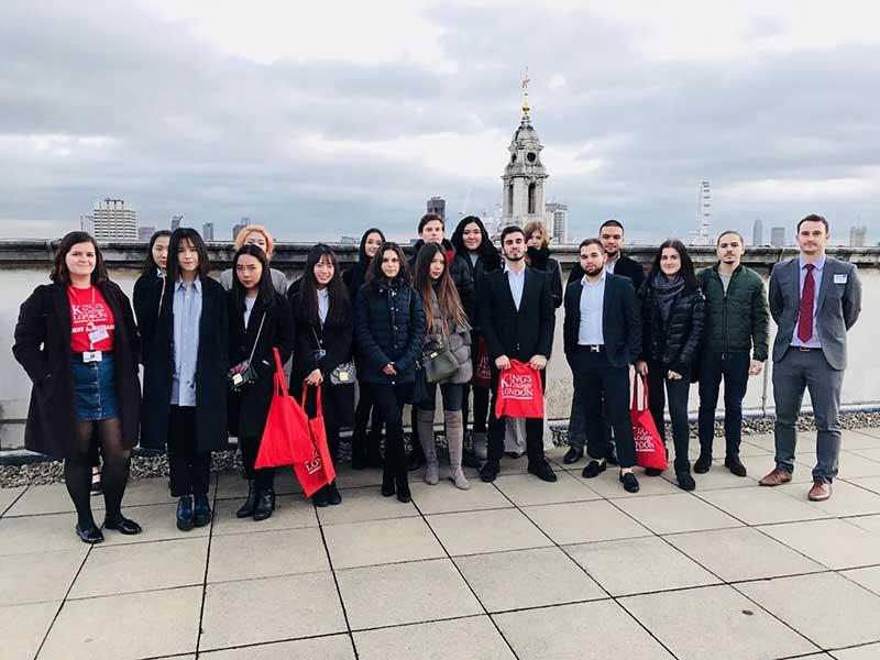 DLD COllege London King's College London Visit