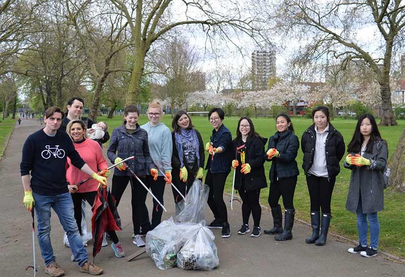 DLD College London Community Riverside Litter Clean