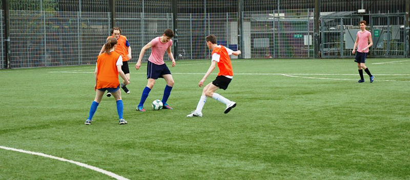 DLD A Level Students at the Charity Football Tournament