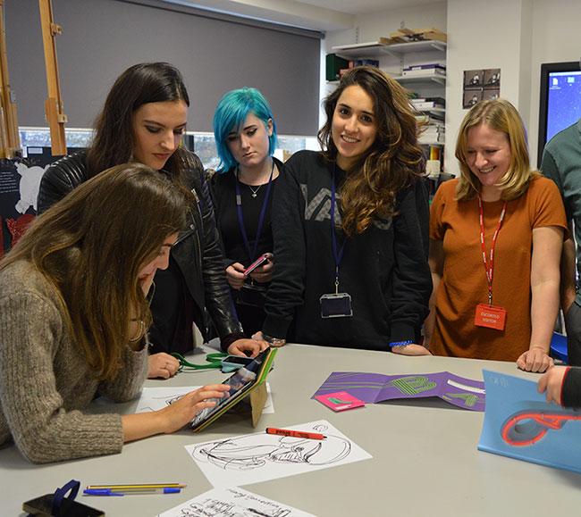 DLD College London visit Arts University Birmingham