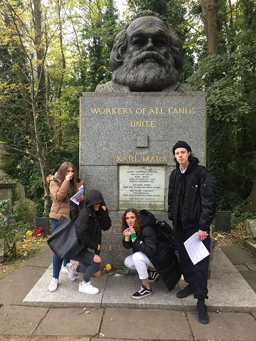 A Level English Students Visit Highgate Cemetery