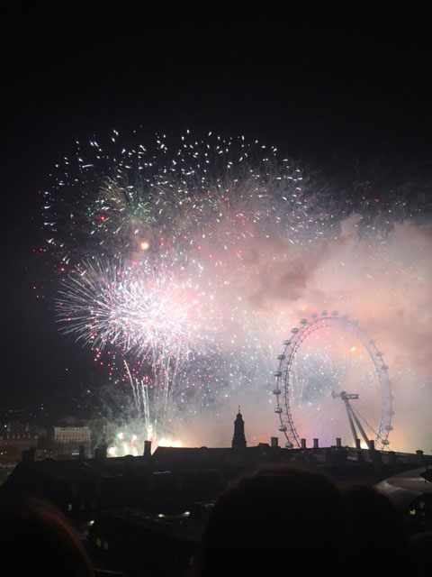 Fireworks from the roof of DLD College London