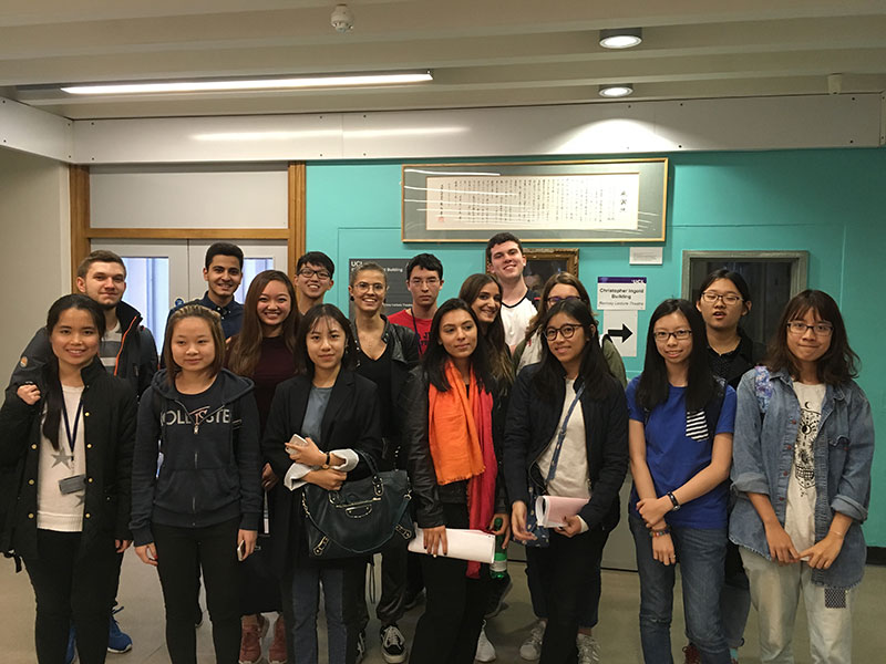 DLD College London students visit UCL