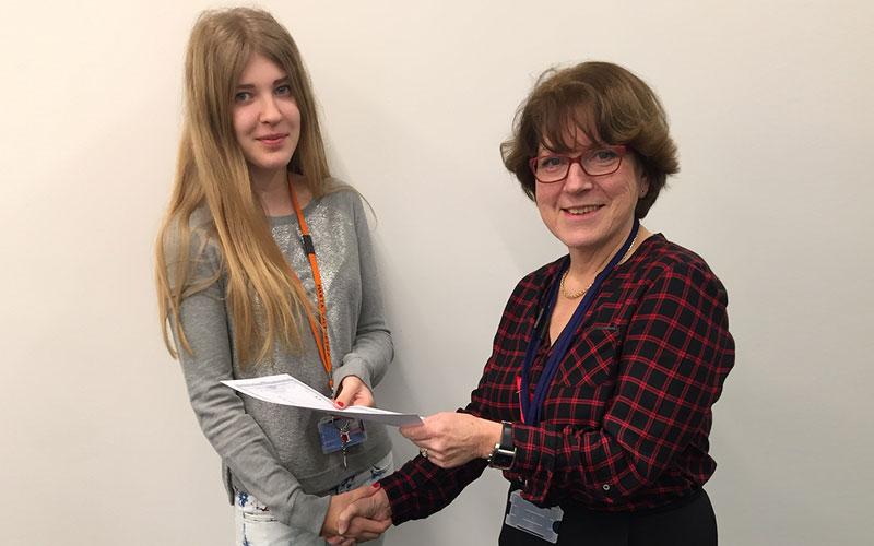 DLD College London GCSE Student Mariya