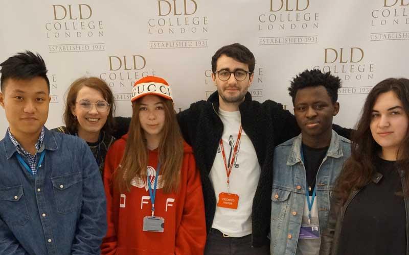 Graphic Designer Cameron Visits DLD College London