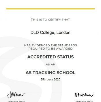 STEER Accredited Status AS Tracking School
