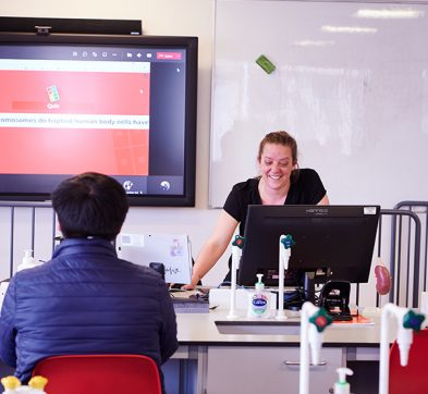 DLD College London Touch Screen In Classroom