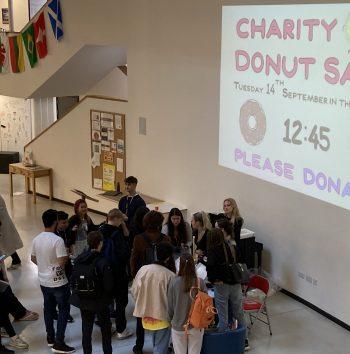 Charity doughnut sale