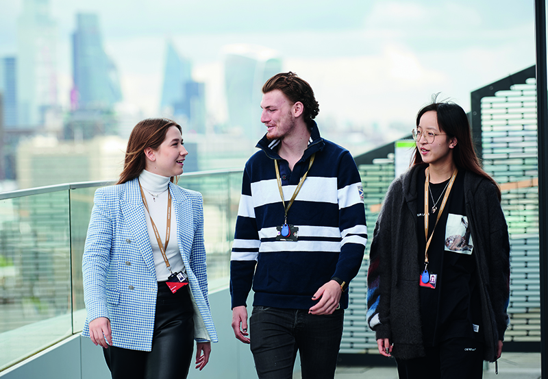 DLD College London Students With The City Of London In The Background